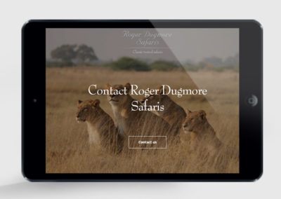 Roger Dugmore website design