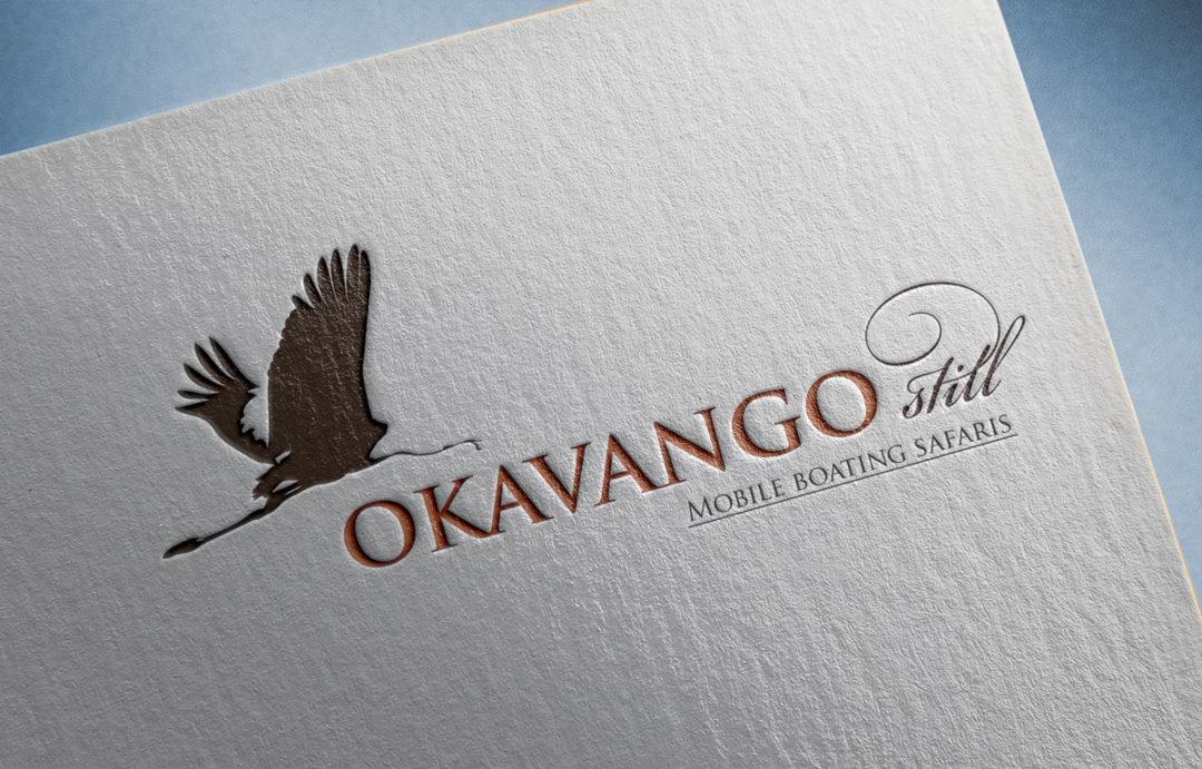 Okavango Still logo design and branding Twin Zebras