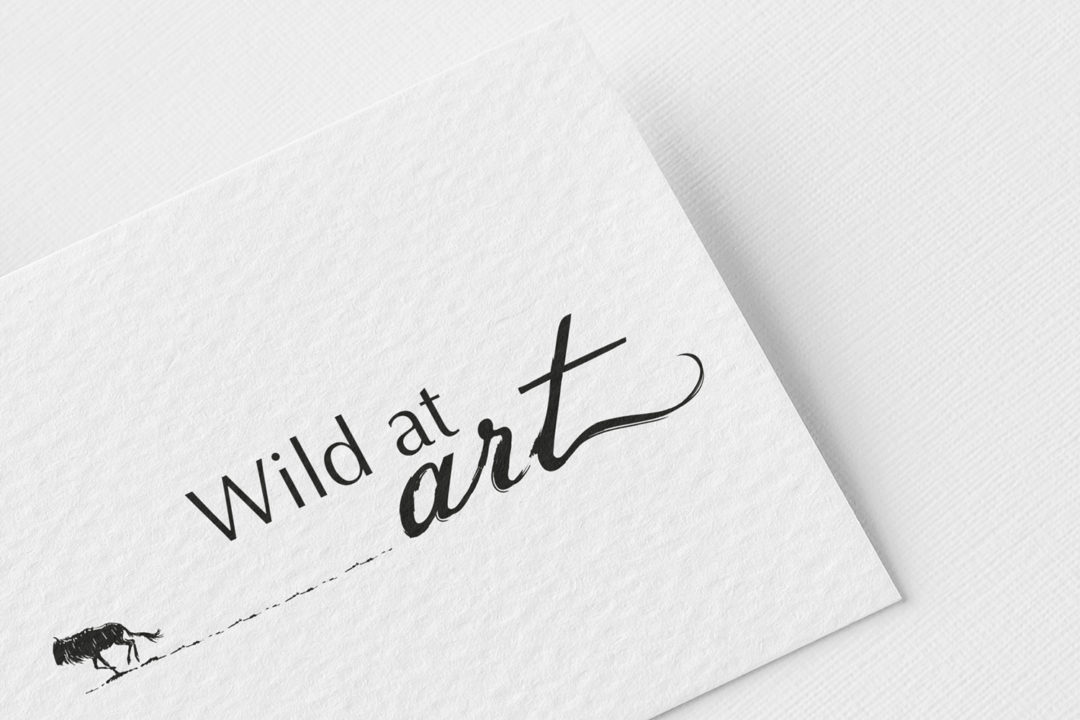 Wild at art logo design and branding by Twin Zebras